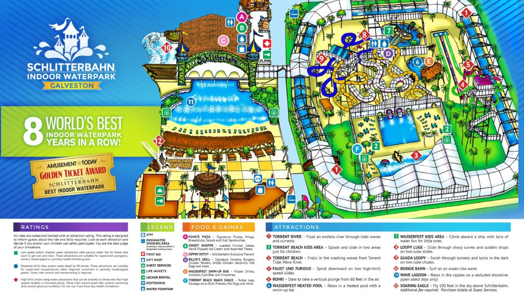Schlitterbahn Galveston map indoor